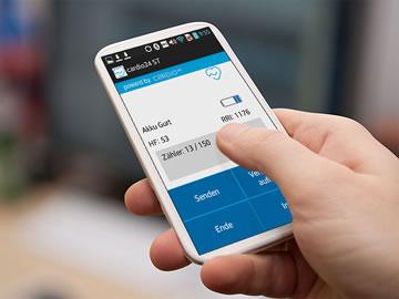 Smartphone mit cardio24 App